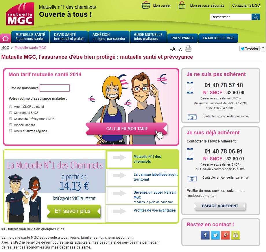 site mutuelle mgc